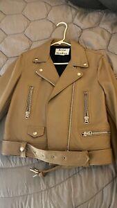 Acne Studios Mock Leather Jacket DE Size 40