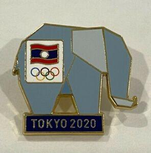 Laos Tokyo 2020 NOC Pin Badge (Dated)