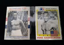 Duke Kahanamoku Greatest Olympians Hall of Fame Swimming 2 Card Set