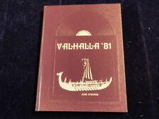 1981 Swan Valley High School Saginaw Michigan Yearbook Annual Valhalla  F