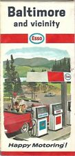 1967 ESSO HUMBLE OIL Road Map BALTIMORE Maryland Towson Columbia Catonsville