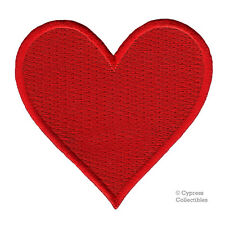 RED HEART CARD SUIT PATCH embroidered iron-on POKER BLACKJACK PLAYING VALENTINES