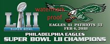 PHILADELPHIA EAGLES SUPER BOWL BANNER (NO TICKETS) 8 BY 3 - THROWBACK LOGO