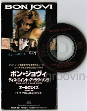 "BON JOVI This Ain't A Love Song/Always(live) JAPAN 3"" CD PHDR-501 FREE S&H/P&P"