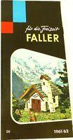 Faller pour la Loisirs 1961/62 Å