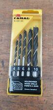 Famag Germany 3501.505 5 Pce Brad Point Wood Drill Bit Set 4 -10 mm RRP £15.80