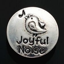 Joyful Noise Singing Bird Snap Jewelry Piece 18mm - Fits Ginger Snaps & Magnolia