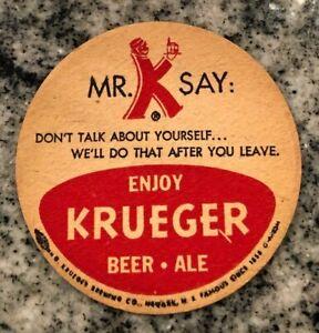 Krueger Mr K 3.5 Beer Coaster Don't Talk About Yourself