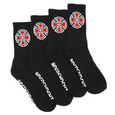 Indy Socks 4 Pack Black OG Cross Crew Size 6-10 Mens Independent Skateboard Sox