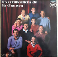 33T LES COMPAGNONS DE LA CHANSON Vinyle LP Volume 3 LA PRIERE - MFP  13138 RARE