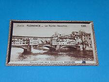 CHROMO PHOTO CHOCOLAT SUCHARD 1934 EUROPE ITALIE ITALIA FLORENCE FIRENZE