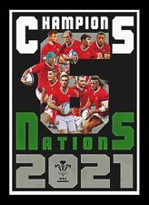 More details for 6 nations champions 2021 - wales rugby - artwork portrait - a3 print