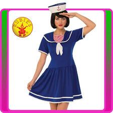 Womens Navy Blue Sailor Costume Girls Uniform Rockabilly Pin Up 50s Fancy Dress