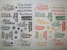 Rice Paper for Decoupage Scrapbook Craft Merry Christmas 270