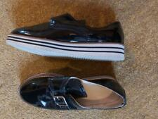 Ladies 'PRIMARK' Black buckle comfort brogue shoe. Size 7.5. vgc.