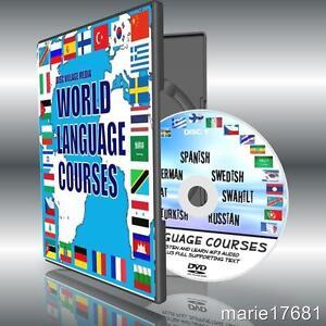 Listen + Learn 7 Language courses Spanish German Swedish Russian NEW PCDVD 1