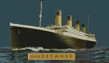 """Titanic en la noche 2 puntada cruzada contada Kit de 17.8"""" X 10"""" 45cm X 25.8cm"""