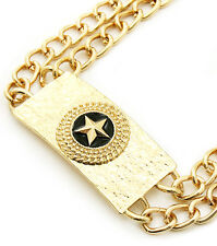 Star ID Gold Necklace Set
