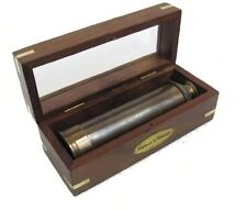 "BR48528B Antiqued Brass 15"" Captains Telescope with box"