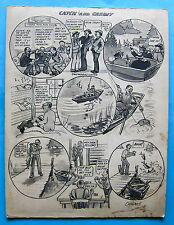 LIONEL FIELDING-DOWNES Fishing Comic Cartoon CATCH AND CREDIT