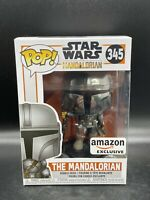 Funko POP! Star Wars The Mandalorian Chrome Amazon Exclusive #345 Vinyl New