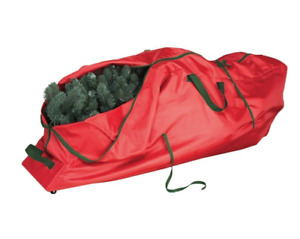Olivet Rolling Artificial Christmas Tree Storage Bag Red Fits 9' Tree NEW
