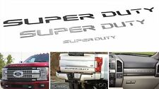 Super Duty Raised Letters Inserts decals Hood,Tailgate,Dash Recon CHROME & BLACK