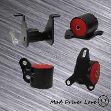 FOR 96-00 HONDA CIVIC D15/D16 B16 B17 B20 SWAP ENGINE STEEL MOTOR MOUNT KIT RED