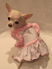 Dog Dress/pet t-shirt/dog clothes/Bitty Baby Ruffle Dog Dress XS,S,M,L FREE SHIP