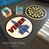 Battlestar Galactica - Pair of Prop Viper Squadron Stickers / Equipment Decals