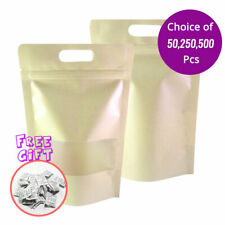 625x975in Kraft Paper Mylar Matte Stand Up Zip Lock Bag With Hang Holeampdesiccant