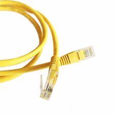 5M (16.4ft) cable ethernet amarillo Cat5e RJ45 Red LAN Parche Plomo de cobre de 100%
