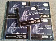 5 Stück PLATINUM Double Layer 8,5GB DVD+R, Speed 8x, lose, NEU & versiegelt  (1)