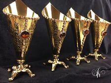 Beautiful gold bukhur burner encens bukhoor bakhoor with diamante decoration