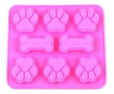 Bone & Paws Pet Dog Paw Silicone Soap mold Candy Chocolate Fondant Tray ICE Cube