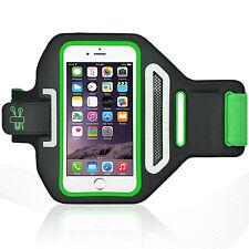 "iPhone 6/6S 4.7"" Green Lycra Armband Running Reflective CreditCard Holder"