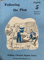 Rod And Staff - English 5 Following The Plan Teacher's Manual