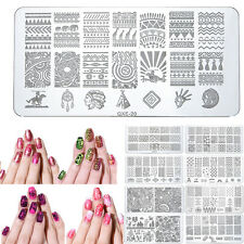 20 Design Acier Nail Art Pochoir Stamping Template Plaque Ongle Image Stamp DIY