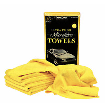 Kirkland Signature Ultra Plush Microfiber Towel, Yellow, 16 in x 16 in
