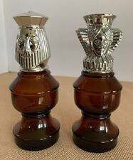 Vintage Avon King And Queen Chess Pieces After Shave Perfume Empty Bottles