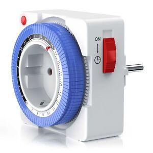 Bearware 24h mechanische Zeitschaltuhr IP 20 - 96 Segmente 3680W weiß NEU