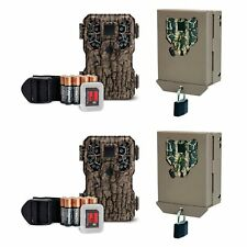 Stealth Cam 8MP Infrared Game Trail Camera, 2 Pack w/ SD Cards & Security Cases