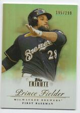 Prince Fielder 2012 Topps Tribute Serial #'d 195/299