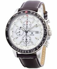 Seiko Pilots Solar Chronograph Flightmaster SSC013 SSC013P1 SSC013P Mens Watch