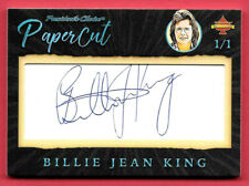 2020 Billie Jean King President's Choice Solitaire 1/1 Auto PaperCut