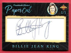2020 Billie Jean King President's Choice Solitaire 1/1 Auto PaperCut