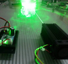 Focusable real 100mw 532nm green laser module / continuous work / 5V with TTL