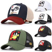 Men Women Donald Duck Snapback Cap Animal Baseball Cap Hip Hop Hat Trucker Mesh