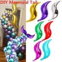 """18"""" S-shaped Foil Balloon Mermaid Tail Inflatable Air Balllons Birthday Party"""