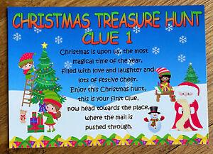 Christmas Eve Day Treasure Scavenger Hunt Childrens Games Activities Box Filler